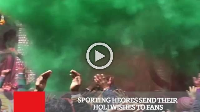 Sporting Heores Send Their Holi Wishes To Fans