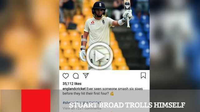 Stuart Broad Trolls Himself