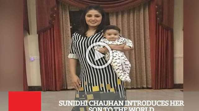Sunidhi Chauhan Introduces Her Son To The World