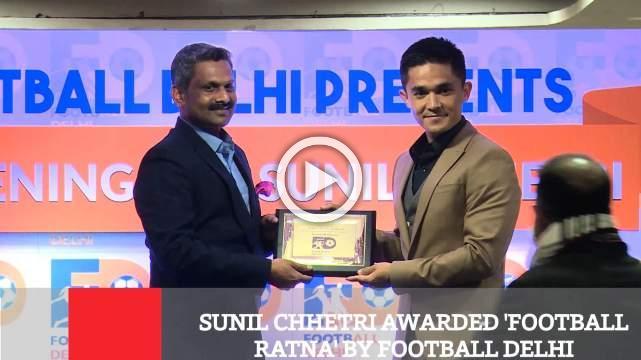 Sunil Chhetri Awarded 'Football Ratna' By Football Delhi