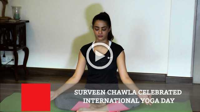 Surveen Chawla Celebrated International Yoga Day