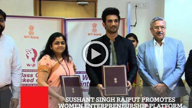 Sushant Singh Rajput Promotes Women Enterpreneurship Platform