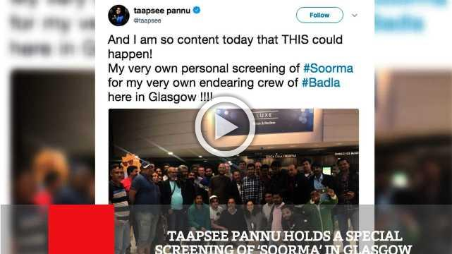 Taapsee Pannu Holds A Special Screening Of 'Soorma' In Glasgow