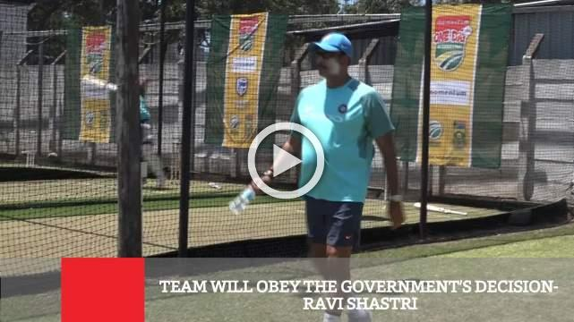 Team Will Obey The Government's Decision- Ravi Shastri