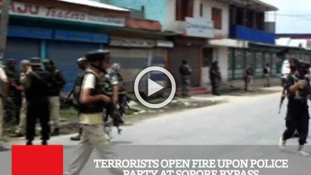 Terrorists Open Fire Upon Police Party At Sopore Bypass