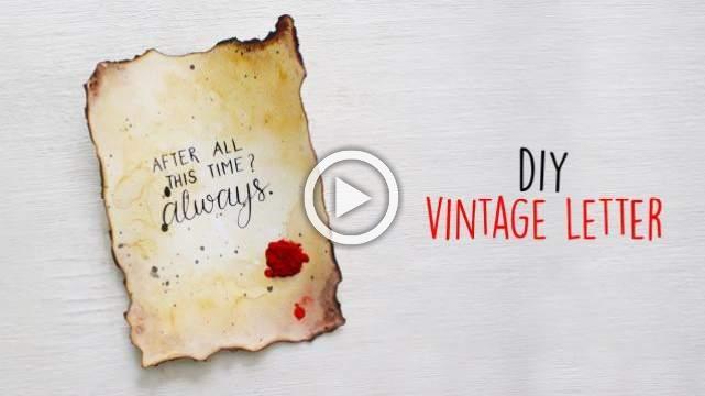 DIY Vintage letter