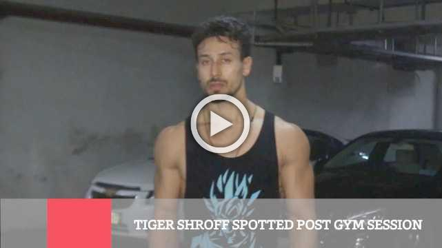 Tiger Shroff Spotted Post Gym Session