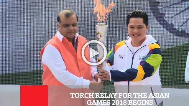 Torch Relay For The Asian Games 2018 Begins