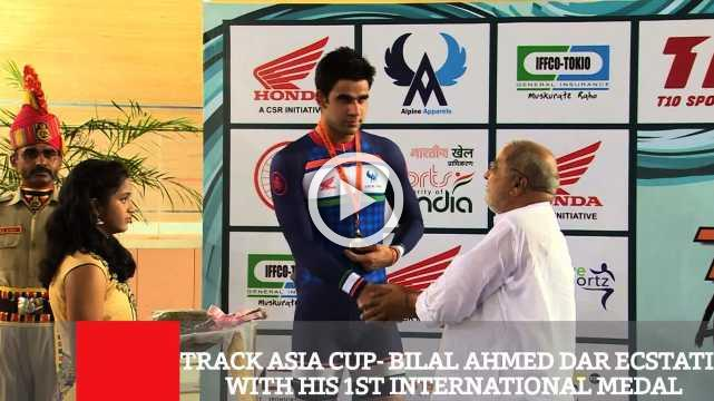 Track Asia Cup- Bilal Ahmed Dar Ecstatic With His 1st International Medal
