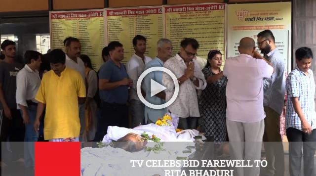 TV Celebs Bid Farewell To Rita Bhaduri