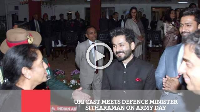 Uri Cast Meets Defence Minister Sitharaman On Army Day