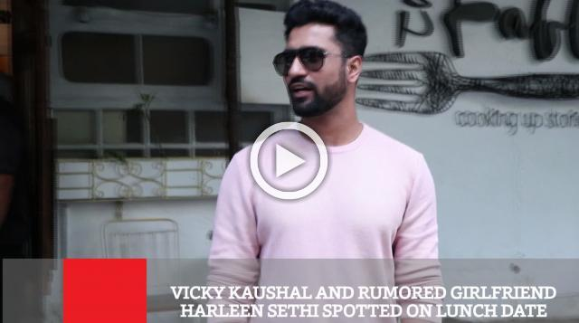 Vicky Kaushal And Rumored Girlfriend Harleen Sethi Spotted On Lunch Date