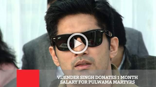 Vijender Singh Donates 1 Month Salary For Pulwama Martyrs