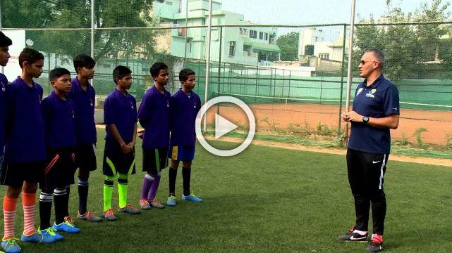 Watch A Brazilian Coach Teach Football Skills To Indian Slum Kids