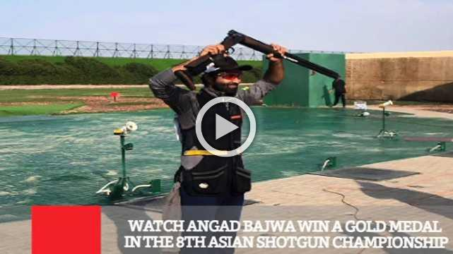 Watch Angad Bajwa Win A Gold Medal In The 8th Asian Shotgun Championship