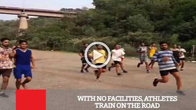 With No Facilities, Athletes Train On The Road