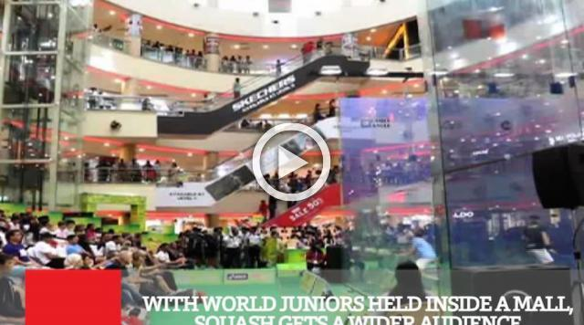 With World Juniors Held Inside A Mall, Squash Gets A Wider Audience