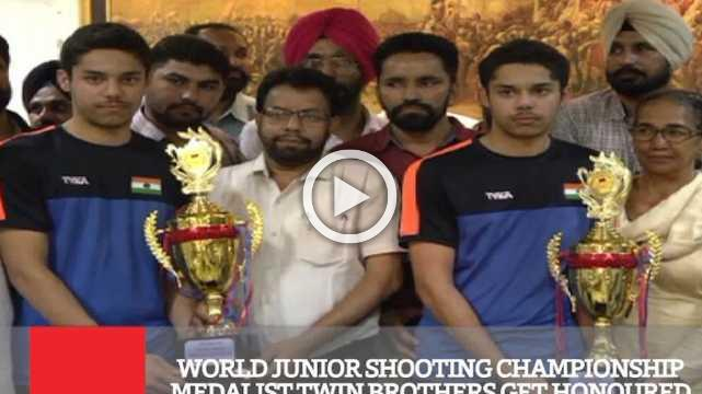 World Junior Shooting Championship Medalist Twin Brothers Get Honoured