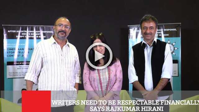 Writers Need To Be Respectable Financially Says Rajkumar Hirani