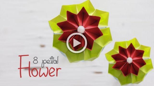 Diy 8 petal flower mightylinksfo