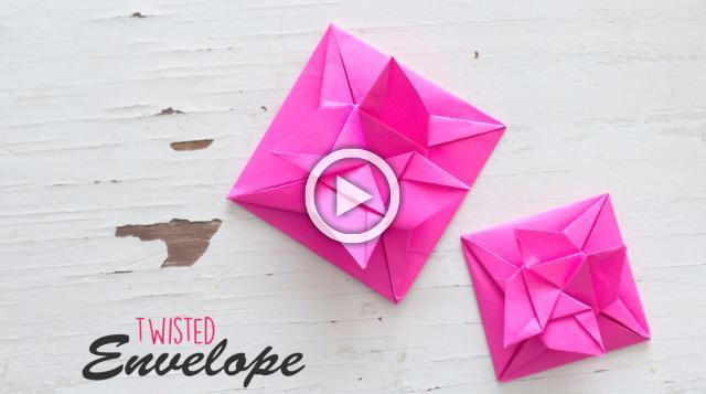 DIY Twisted Envelope