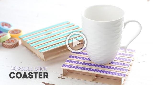 DIY Popsicle Stick Coaster