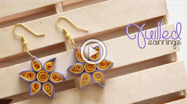 DIY Quilled Earrings