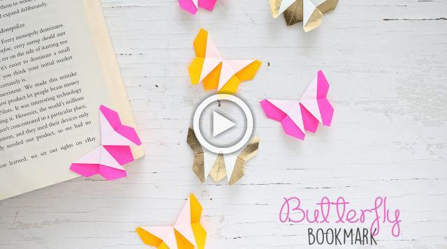 DIY Butterfly Bookmark