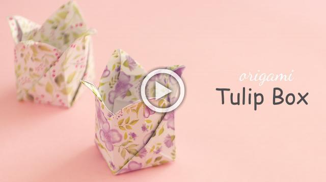 Origami Tulip Box