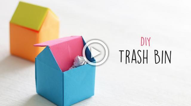 How to Make Trash Bin - DIY Trash Bin