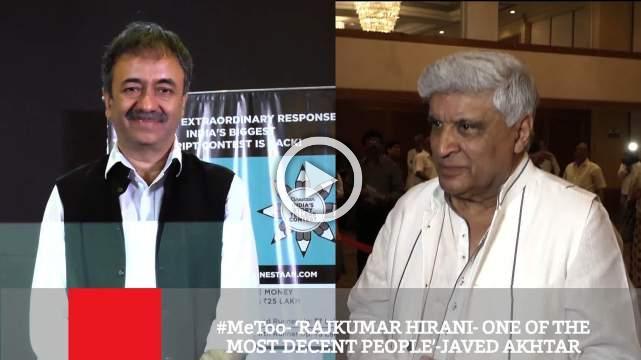 #Metoo- 'Rajkumar Hirani- One Of The Most Decent People'-Javed Akhtar