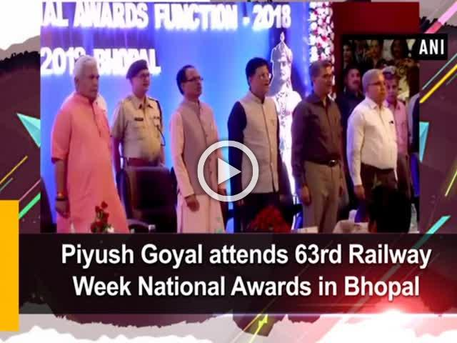 Piyush Goyal attends 63rd Railway Week National Awards in Bhopal