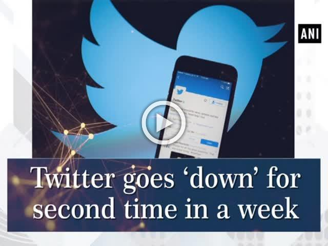 Twitter goes 'down' for second time in a week