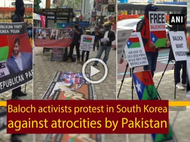 Baloch activists protest in South Korea against atrocities by Pakistan