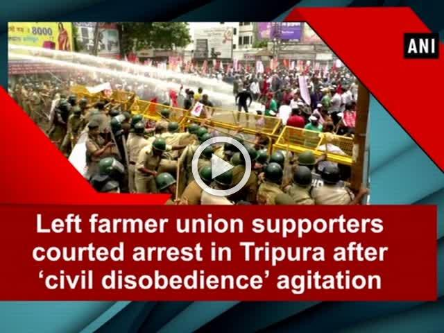 Left farmer union supporters courted arrest in  Tripura after 'civil disobedience' agitation