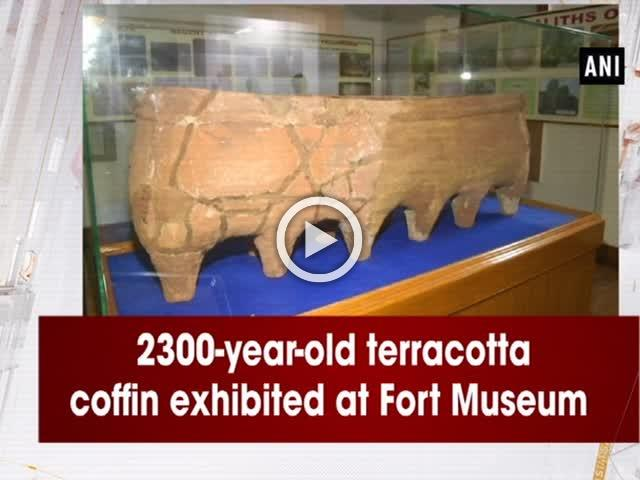 2300-year-old terracotta coffin exhibited at Fort Museum