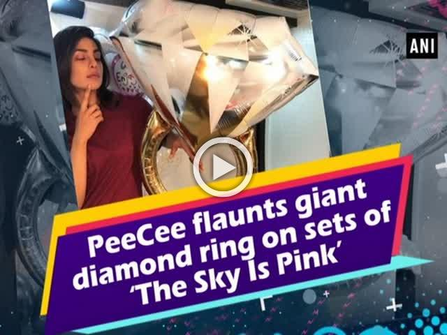 PeeCee flaunts giant diamond ring on sets of 'The Sky Is Pink'