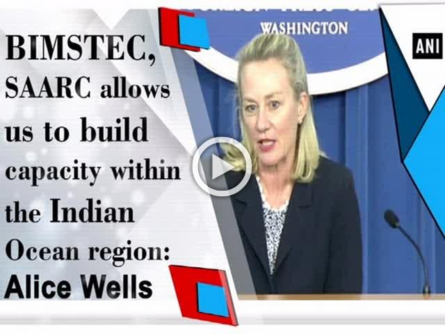 BIMSTEC, SAARC allows us to build capacity within the Indian Ocean region: Alice Wells