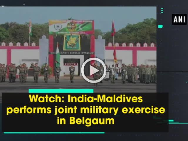 Watch: India-Maldives performs joint military exercise in Belgaum