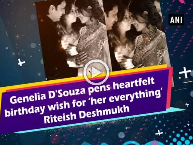 Genelia D'Souza pens heartfelt birthday wish for 'her everything' Riteish Deshmukh