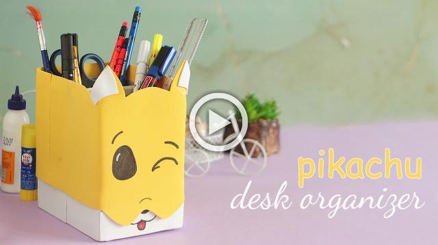 Pikachu Desk Organizer