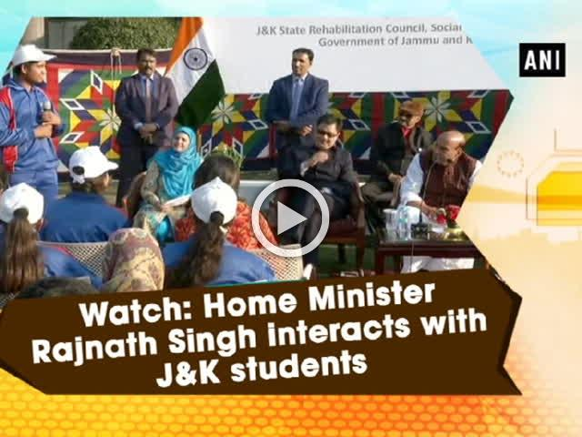 Watch: Home Minister Rajnath Singh interacts with J and K students