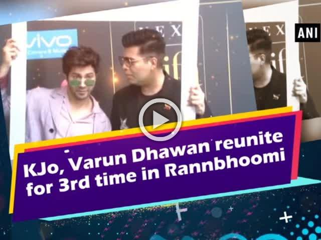 KJo, Varun Dhawan reunite for 3rd time in Rannbhoomi