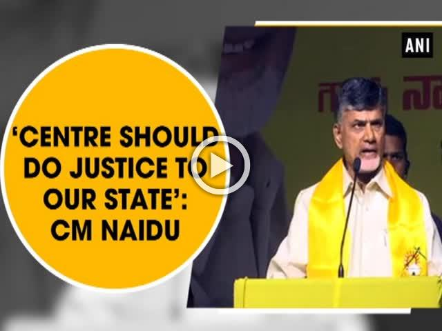 'Centre should do justice to our state': CM Naidu