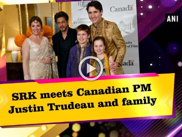 SRK meets Canadian PM Justin Trudeau and family
