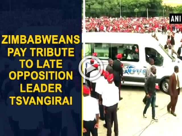 Zimbabweans pay tribute to late Opposition leader Tsvangirai