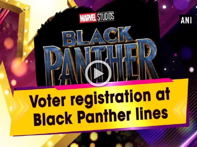 Voter registration at Black Panther lines