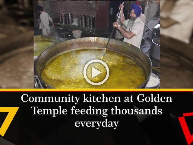 Community kitchen at Golden Temple feeding thousands everyday