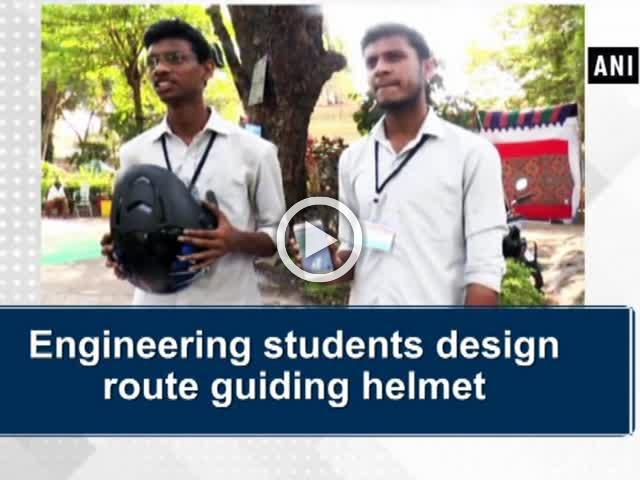 Engineering students designs route guiding helmet