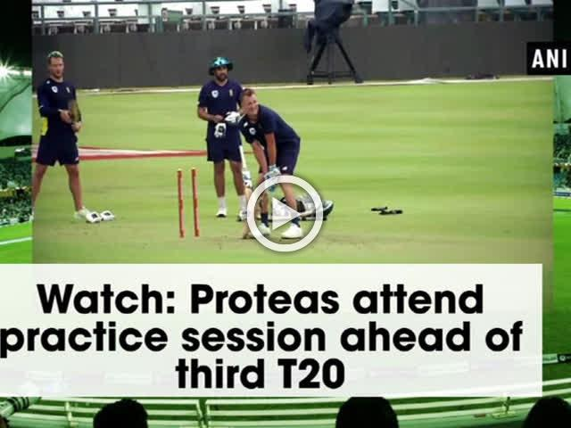 Watch: Proteas attend practice session ahead of third T20
